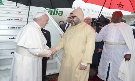 Arrivée au Maroc de Sa Sainteté le Pape François pour une visite officielle au Royaume
