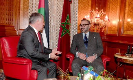 Entretiens en tête-à-tête entre S.M. le Roi Mohammed VI et le Souverain du Royaume hachémite de Jordanie