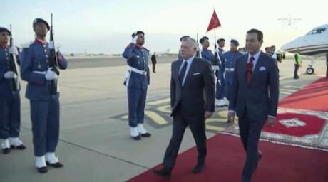 Arrivée au Maroc du Roi Abdallah II de Jordanie pour une visite d'amitié et de travail