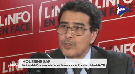 Houssine Saf, président de la Commission relations avec le monde académique et les médias de l'APEBI