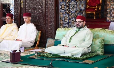 S.M. le Roi, Amir Al Mouminine, préside la première causerie religieuse du mois sacré du Ramadan
